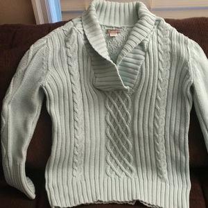 Beautiful light aqua knitted Tommy Bahama Sweater